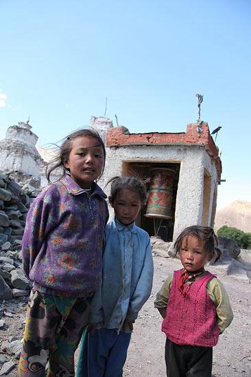 Portraits d'enfants, village de Miru, Ladakh