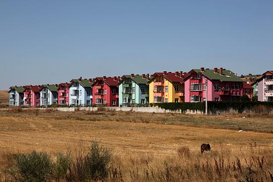 Maisons colorées, Gerede, Turquie 2011.