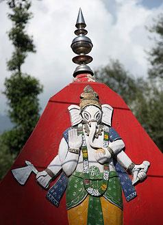 Une représentation de Ganesh sur un temple