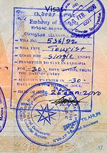 Visa pour l'Ethiopie