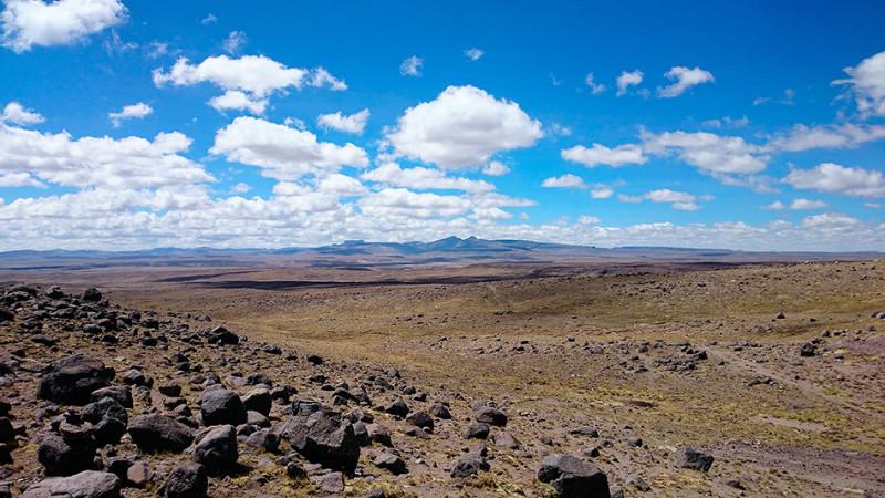 Paysages de l'altiplano à plus de 4000m, Pérou - 2014