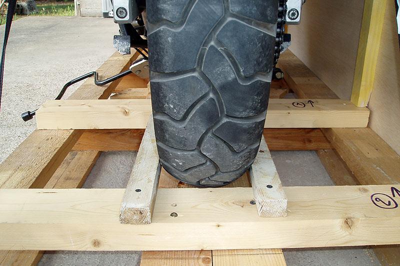 Calage de la roue arrière