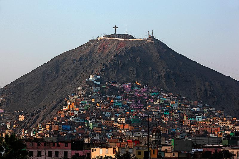 La colline de San Cristobal, Lima - Pérou 2014