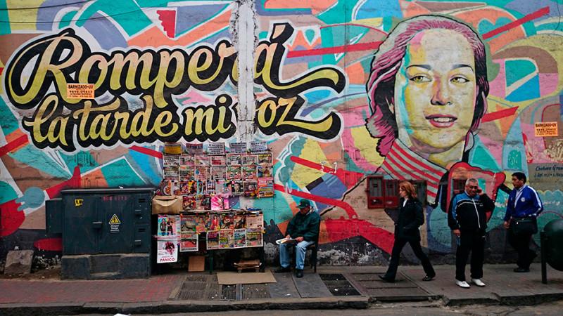 Scène de rue, Jiron Callao, Lima, Pérou - 2014