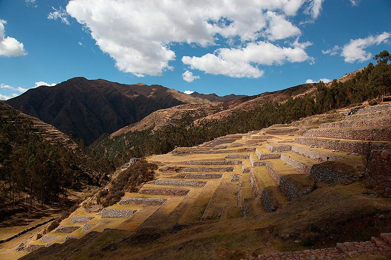 Traversiers ou terrasses Incas de Chinchero, Pérou - 2014