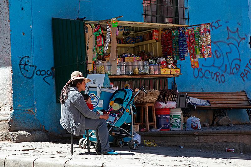 Boutique de rue, Potosi, Bolivie - 2014