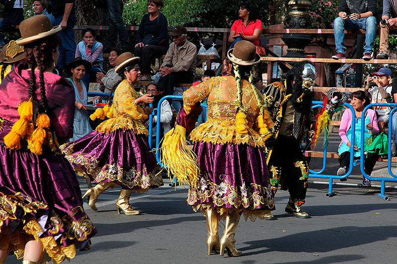 Danses pour la fête de la Virgen de Guadalupe, Sucre, Bolivie - 2014