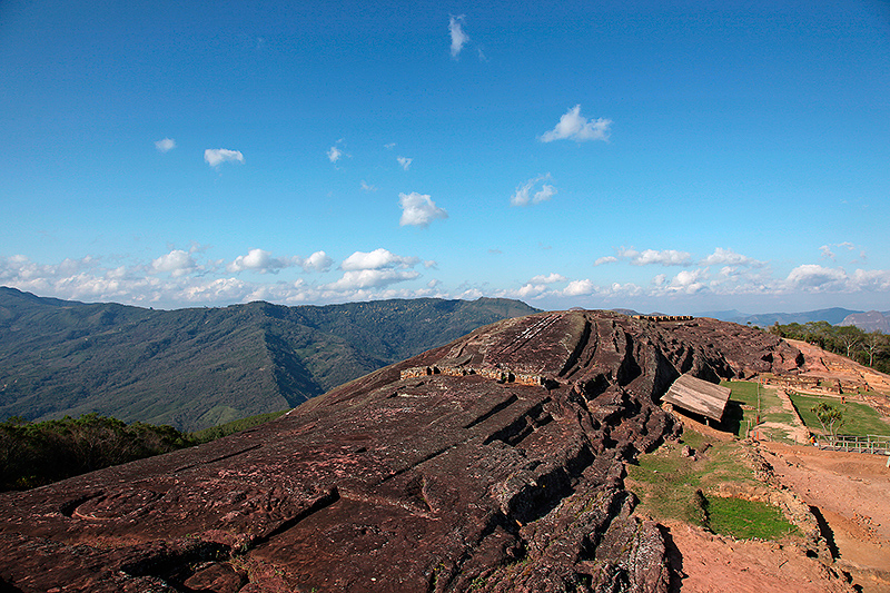 Le site pré-inca, el Fuerte de Samaipata, Bolivie - 2014