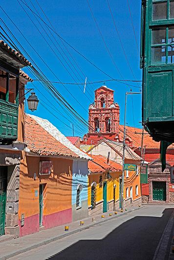 Les maisons colorées de la vieille ville, Potosi, Bolivie - 2014