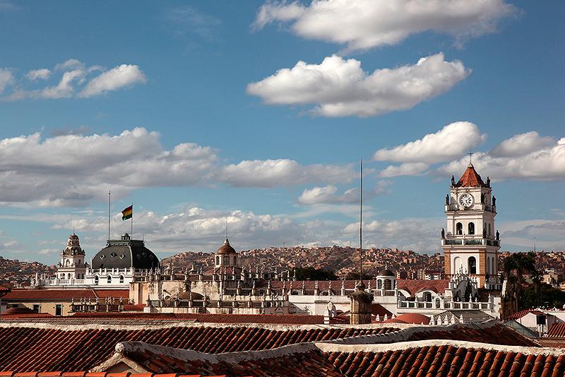 Sucre, vue depuis les toits, Bolivie - 2014