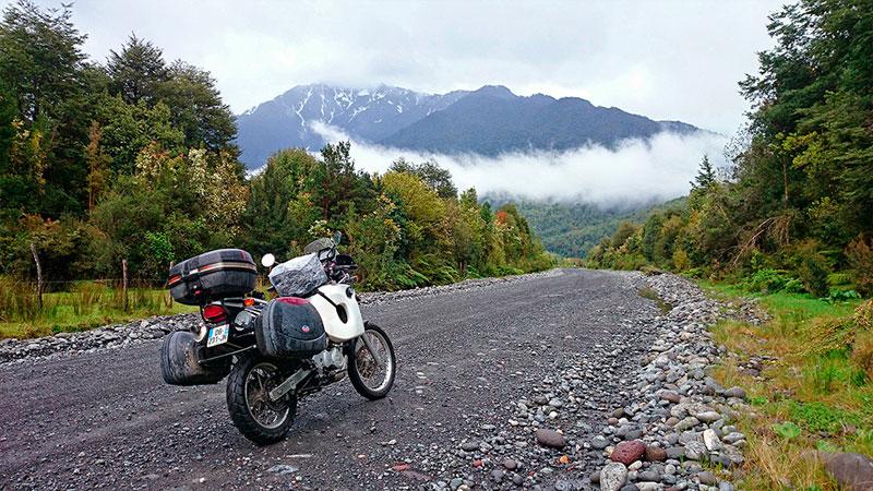 A moto sur la Carretera Austral, Chili - 2014