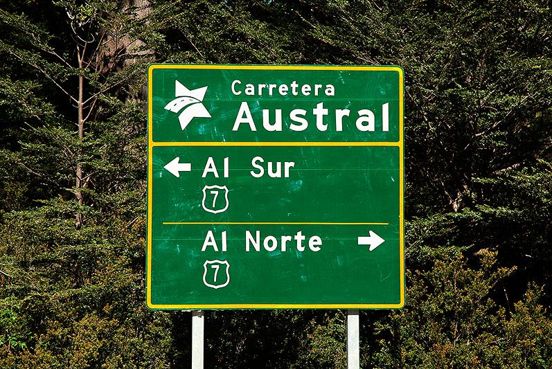 """2 directions au choix, """"Al Sur, Al Norte"""", Carretera Austral, Chili - 2014"""