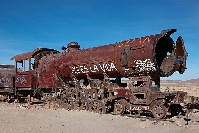 "Le cimetière de trains d'Uyuni, ""Asi es la vida"", Bolivie - 2014"