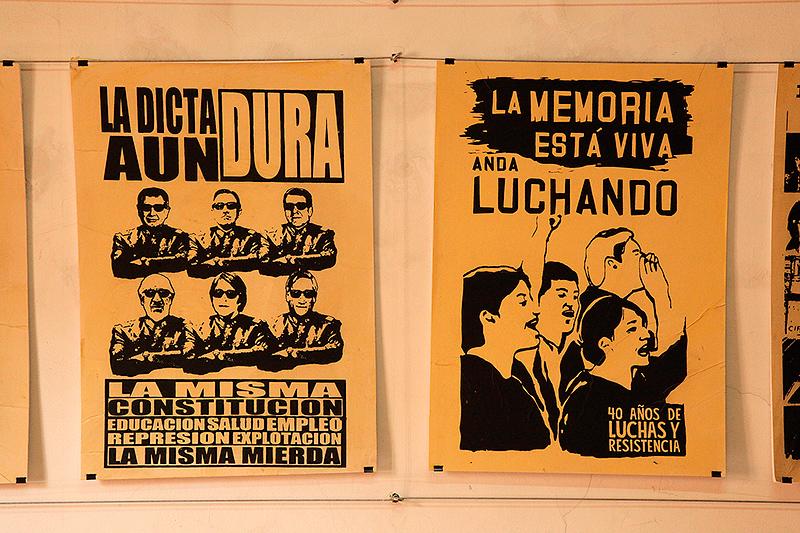 Exposition d'affiches, Londres 38, Santiago, Chili - 2014