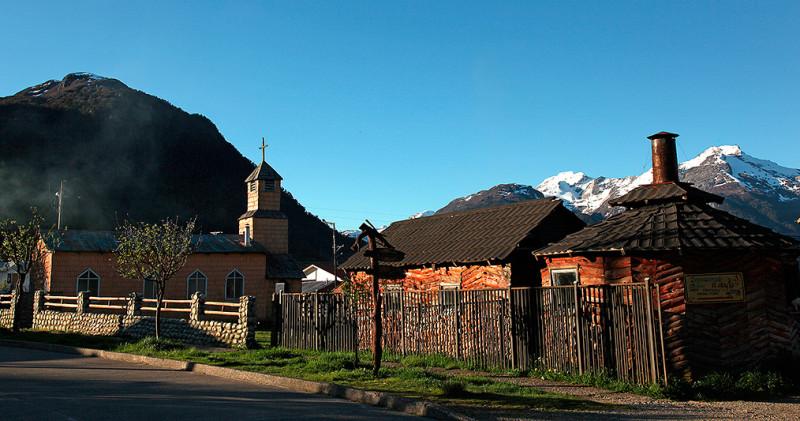 Fin de journée à Villa Amengual sur la Carretera Austral, Chili - 2014