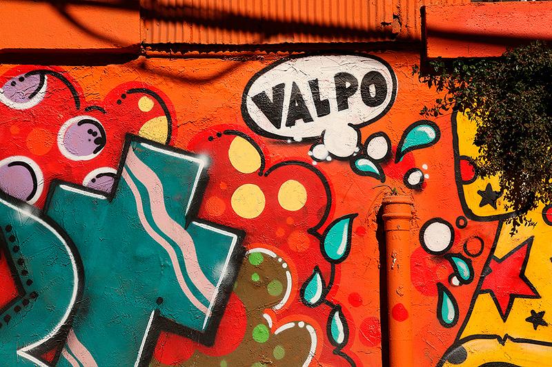 "Graphe ""Valpo"" sur un mur de Valparaiso, Chili - 2014"