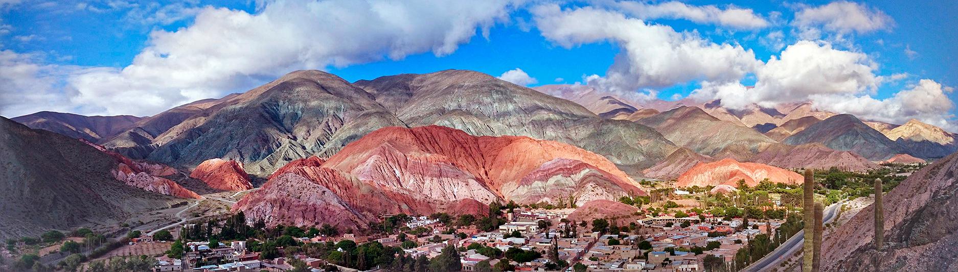 Vue panoramique des montagnes aux sept couleurs, Purmamarca, Argentine - 2014