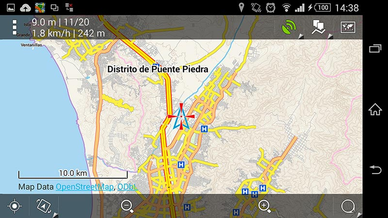 Capture d'écran Locus Pro 10km
