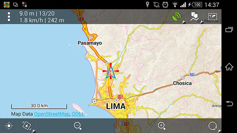 Capture d'écran Locus Pro 30km
