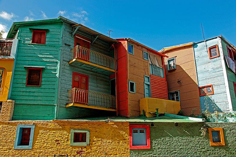 Maisons colorées, el Caminito, quartier de la Boca, Buenos Aires, Argentine - 2014