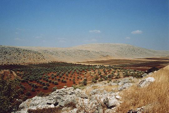Paysages de la frontière Turquie - Syrie à Bab al Hawa