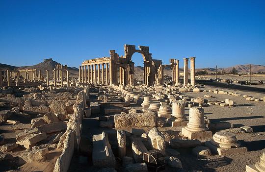 Syrie, le site archéologique de Palmyre