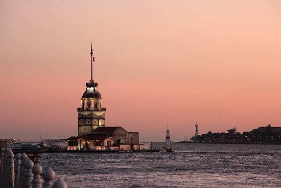 La tour de Léandre (Kız Kulesi en Turc), quartier d'Üsküdar, sur le Bosphore, Istanbul, Turquie 2011.