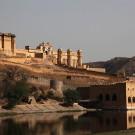 Le fort d'Amber, vue d'ensemble - Amber, Inde 2012