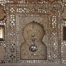 Le fort d'Amber, détail du Diwan-i-Am - Amber, Inde 2012