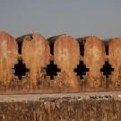 Le fort d'Amber, détail des fortifications - Amber, Inde 2012
