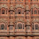 Hawa Mahal, le palais des vents, détail de la façade - Jaipur, Inde 2012