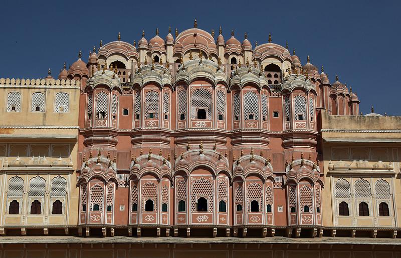 Hawa Mahal, le palais des vents, vu de l'extérieur - Jaipur, Inde 2012