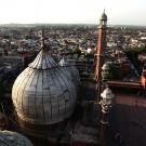 Les coupoles de la mosquée Jama Masjid - Delhi, Inde 2012