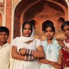 Photo de famille devant le tombeau d'Humâyûn - Delhi, Inde 2012