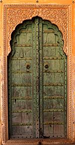 Porte du fort du tigre, Nahargarh - Rajasthan, Inde 2012