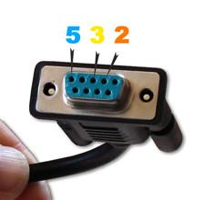 Raccordement du connecteur RS232