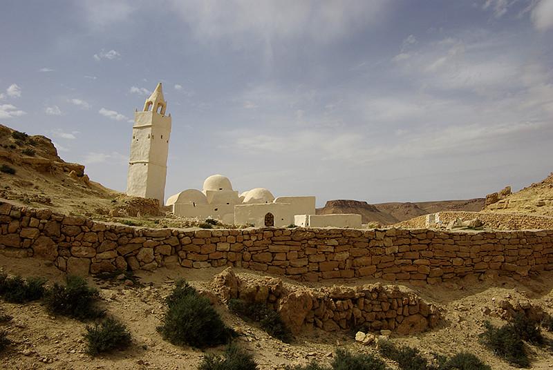 La mosquée des sept dormants aux environs de Chenini - Tunisie 2009