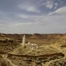 Vue d'ensemble de la mosquée des sept dormants entourée du cimetière - Tunisie 2009