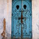 Porte traditionnelle dans la Medina de Kairouan - Tunisie 2012