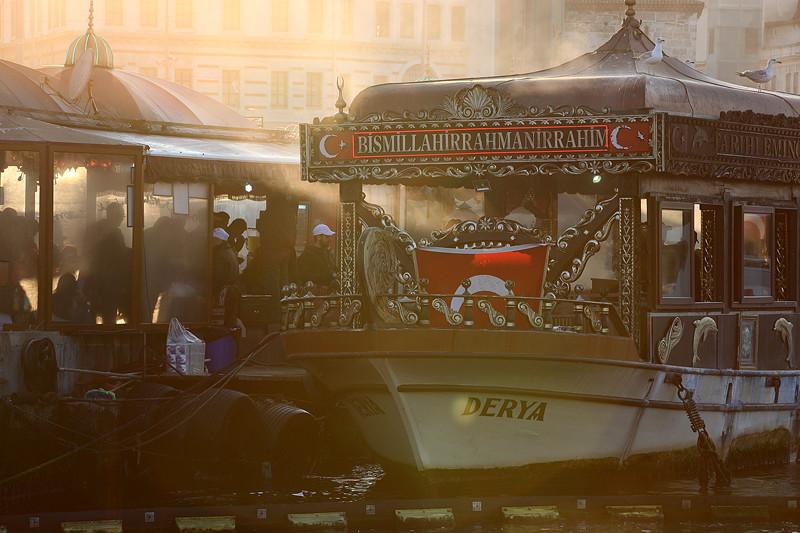 Dans la fumée des maquereaux grillés, Istanbul - Turquie 2013