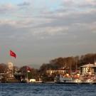 Ferries amarrés au pied du pavillon Sepetciler, Istanbul - Turquie 2013