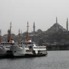 Ferries amarrés dans la Corne d'Or, Istanbul - Turquie 2013