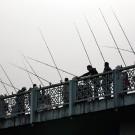 Les pêcheurs du pont de Galata, Istanbul - Turquie 2013