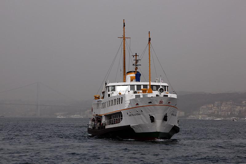 Le Vapür Nurettin Alptogan de retour d'Üsküdar, Istanbul - Turquie 2013