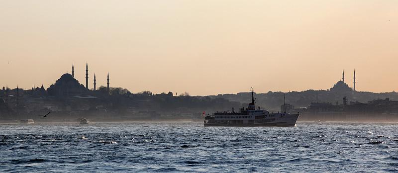 Soleil couchant sur la Corne d'Or, Istanbul - Turquie 2013