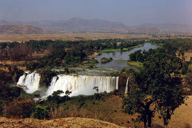 Les chutes du Nil bleu, Ethiopie, février 2000