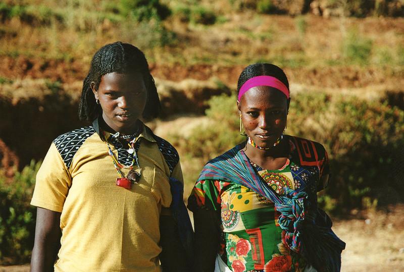 Portraits de jeunes femmes, Ethiopie, février 2000