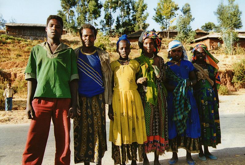 Séance de photos sur la route, Ethiopie, février 2000