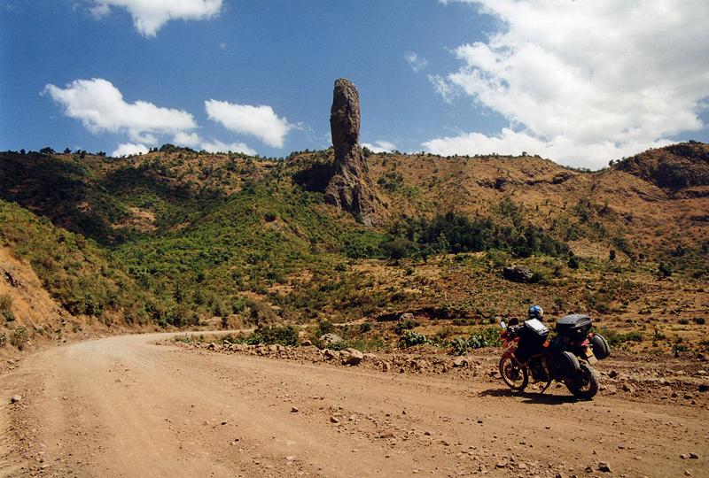 Sur la piste en Ethiopie, février 2000