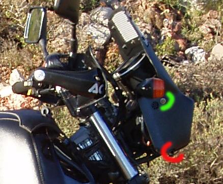Montage tête de fourche Suzuki 800 DR